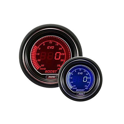 Boost Gauge- Electrical Red & Blue EVO Series 52mm (2 1/16')