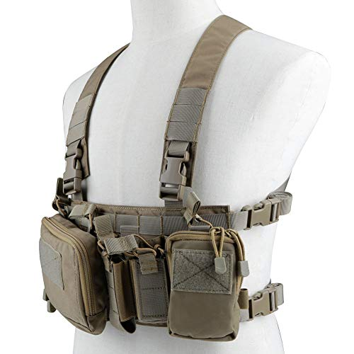 OAREA Tactical Chest Vest Rig Assault 500D Molle Multicam Tactical Vest with Multi-Pockets