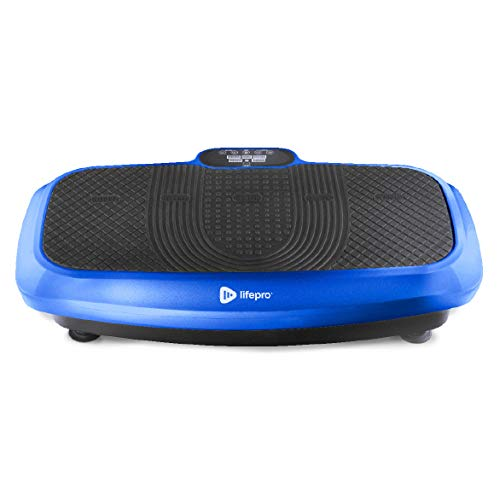 LifePro 3D Vibration Plate Exercise Machine - Dual Motor Oscillation, Pulsation + 3D Motion Vibration Platform | Full Whole Body Vibration Machine for Home Fitness & Weight Loss. (Blue)