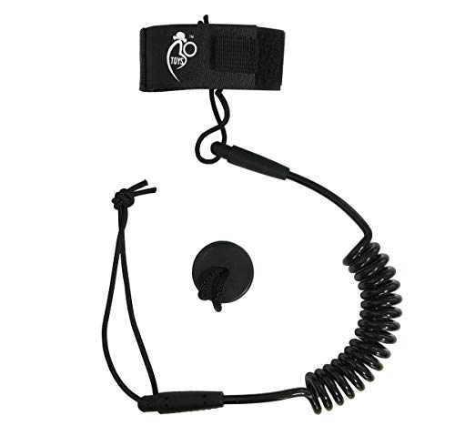 Bo-Toys Body Board Coiled PRO Wrist Leash Comfortable Lightweight Padded Neoprene Cuff