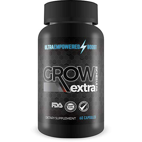 Grow Extra Inches Ultra - Growth Formula - Empowered Enlargement Formula To Support Tissue Growth, Circulation, & Muscle Gains - Empowered Boost Male Enlargement Pills For Men