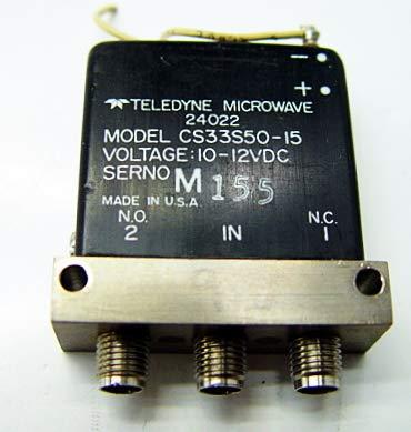 Teledyne CS33S50-15 RF Coaxial Switch Relay