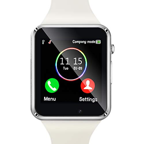Amazqi Smart Watch, Smartwatch Phone with SD Card Pedometer Call Text Notification SIM Card Slot Music Player Camera Compatible for Android Samsung Huawei and iPhone (Partial Functions) for Men Women