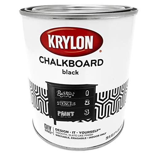 Krylon K05223000 Chalkboard Brush-on Paint Black, 1 Quart, (Pack of 2)