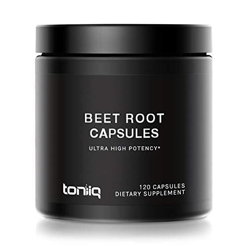 Ultra High Strength Beet Root Capsules - 4% Nitrates - 1400mg - The Strongest Nitric Oxide Booster Available - 120 Caps