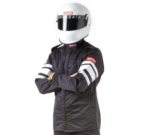 RaceQuip 121005 121 Series Large Black SFI 3.2A/1 Multi-Layer Driving Jacket