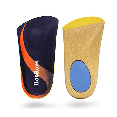 Orthotic Inserts 3/4 Length, Plantar Fasciitis Insoles with Metatarsal Pads Heel Cushion for Men and Women, High Arch Support Shoe Inserts for Flat Feet, Overpronation, Walking Running, S