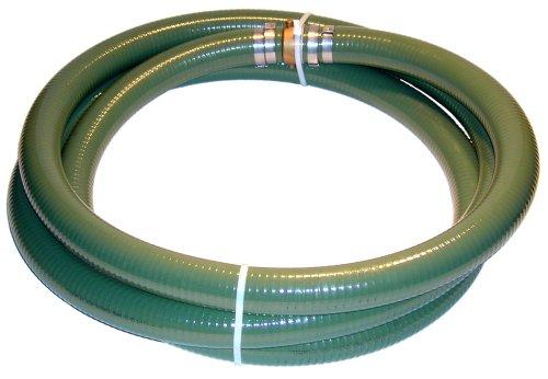 JGB Enterprises Tigerflex Series J PVC Suction Hose Assembly, Green, 3' Male X Female (CXE) Camlocks, 60 PSI Maximum Pressure, 3' Hose ID, 20' Length - A007-0489-3520