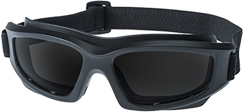 Tinted Motorcycle Riding Goggles: Heavy-Duty Riding Goggles'No Foam' Design w/Hard Case, Microfiber Cleaning Cloth & Pouch Included (Smoke)