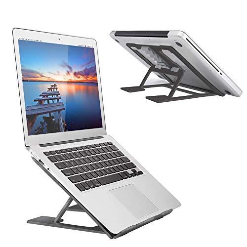 Adjustable Laptop Stand,Ventilated Portable Ergonomic Notebook Riser for Desk,Multi-Angle Adjustable Portable Anti-Slip Mount for MacBook, Surface Laptop, Notebook, 10'-17' Tablet (Black)