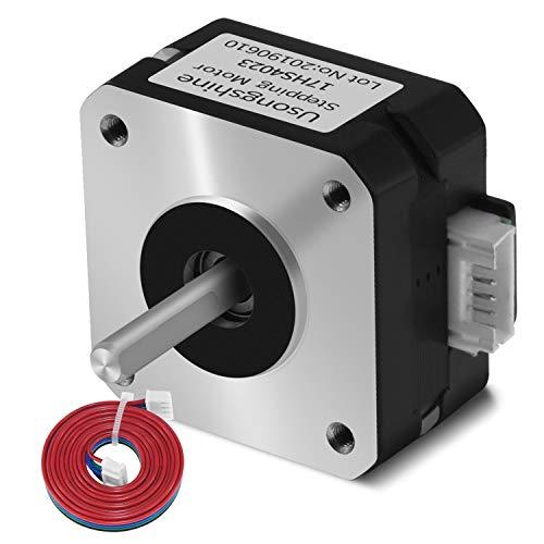 Usongshine Nema 17 Stepper Motor Bipolar Step Motor for 3D Printer/Extruder/DIY CNC 1A 13Ncm (18.4oz.in) 4 Lead 1.8 Deg with 1m Cable (17HS4023 Pack of 1)