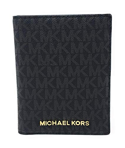 Michael Kors Jet Set Travel Passport Holder Wallet Case PVC 2019 (Black PVC)