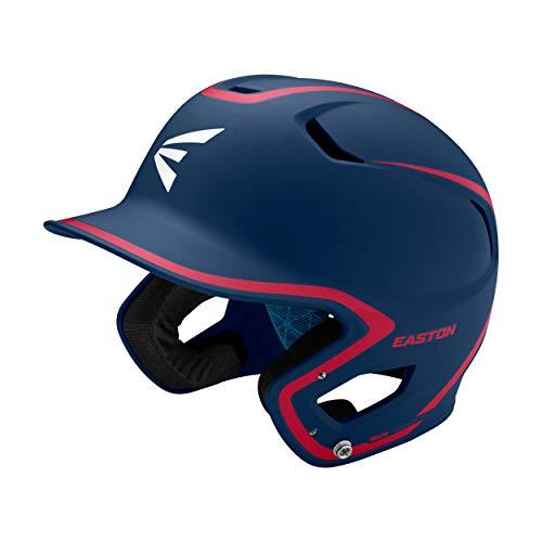 EASTON Z5 2.0 Batting Helmet | Baseball Softball | Junior | Matte Navy / Red | 2020 | Dual-Density Impact Absorption Foam | High Impact Resistant ABS Shell | Moisture Wicking BioDRI Liner