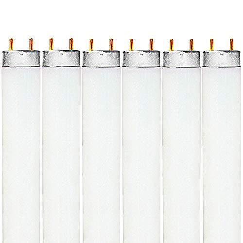 Luxrite F32T8/741 32W 48 Inch T8 Fluorescent Tube Light Bulb, 4100K Cool White, 2850 Lumens, G13 Medium Bi-Pin Base, LR20732, 6-Pack