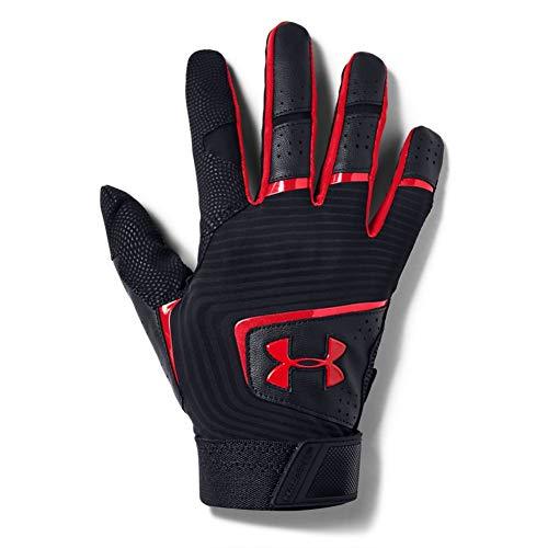 Under Armour Men's Clean Up 19 Baseball Gloves , Black (002)/White , Medium