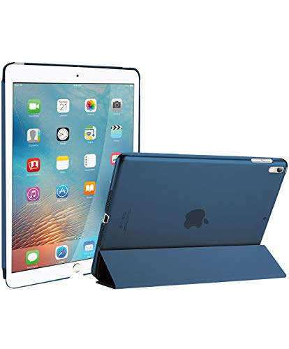 ProCase iPad Air (3rd Gen) 10.5' 2019 / iPad Pro 10.5' 2017 Case, Ultra Slim Lightweight Stand Smart Case Shell with Translucent Frosted Back Cover for Apple iPad Air (3rd Gen) 10.5' 2019 –Navy Blue