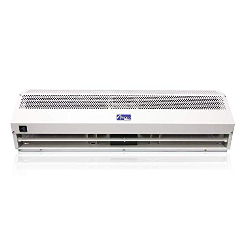 Awoco 36' Super Power 2 Speeds 1200CFM Commercial Indoor Air Curtain, UL Certified, 120V Unheated - Door Switch Included