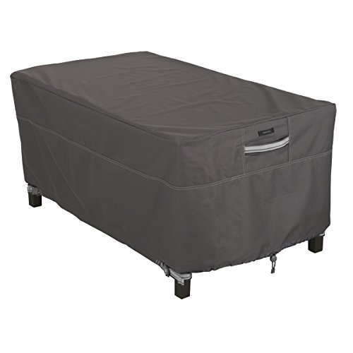 Classic Accessories 55-327-015101-EC  Ravenna Water-Resistant 48 Inch Rectangular Patio Coffee Table Cover,Taupe,X-Large