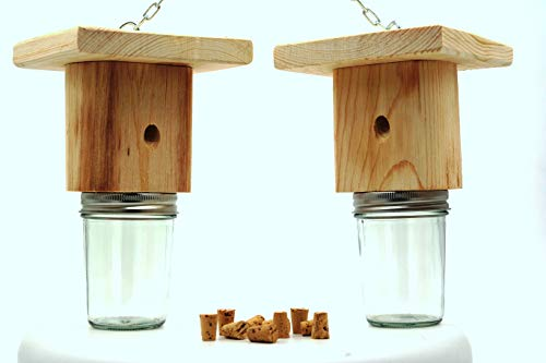 Mac's Best Brothers Natural Wood Carpenter Bee Trap, Set of 2