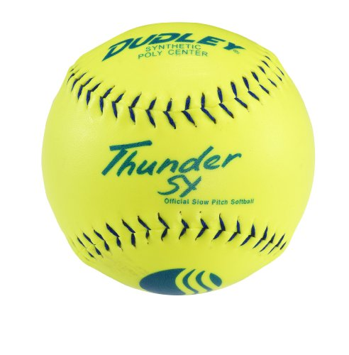 Dudley USSSA Thunder SY Slowpitch Classic W Stamp Softball - 12 Pack