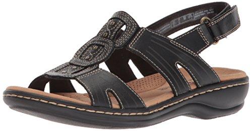 Clarks Women's Leisa Vine Platform, Black Leather, 9 Medium US