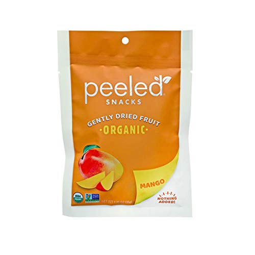 Peeled Snacks Organic Dried Fruit, Mango, 1.23 Ounce (Pack of 10)