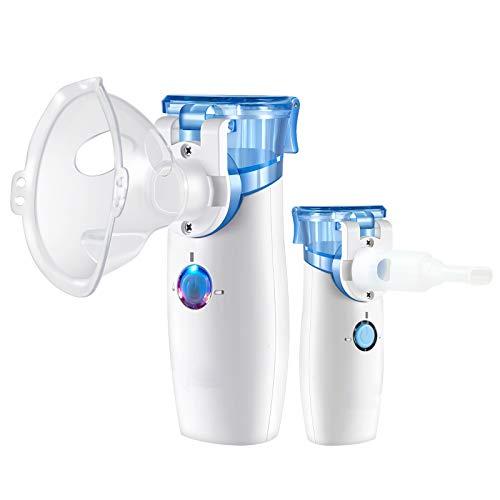 Portable Handheld Nebuliser, Cool Mist Steam Inhaler Mini Nebuliser with Self-Cleaning Mode, Nebuliser Machine Atomizer for Kids Adults