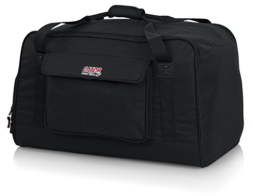 Gator Cases Heavy-Duty Speaker Tote Bag for Compact 12' Speaker Cabinets; Fits QSC K12, Yamaha DXR12 and more (GPA-TOTE12)