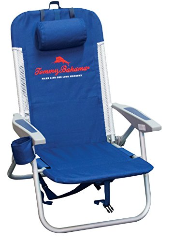 Tommy Bahama Mesh Trim with Cooler Backpack Chair, Blue