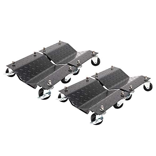 Set of (4) 3' Set Tire Wheel Dollies Dolly Vehicle Car Auto Repair Moving Car Dolly Set