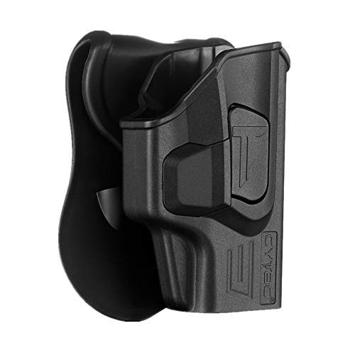 CYTAC Springfield Armory XD-S 3.3' Holsters, OWB Holster for Springfield XD-S 3.3' Single Stack Series 9MM .40SW .45ACP, Tactical Polymer Belt Holster with 360° Adjustable Paddle -RH