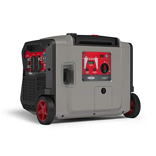 Briggs & Stratton P4500 Power Smart Series Inverter Generator with Electric Start, CO Guard, and Quiet Power Technology, 4500 Starting Watts 3700 Running Watts, RV Ready