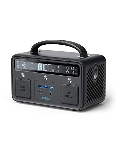 Anker Portable Power Station Powerhouse 400, 300W/388.8Wh, 110V AC Outlet/60W USB-C Power Delivery Portable Generator for Camping, Emergency Power, and More