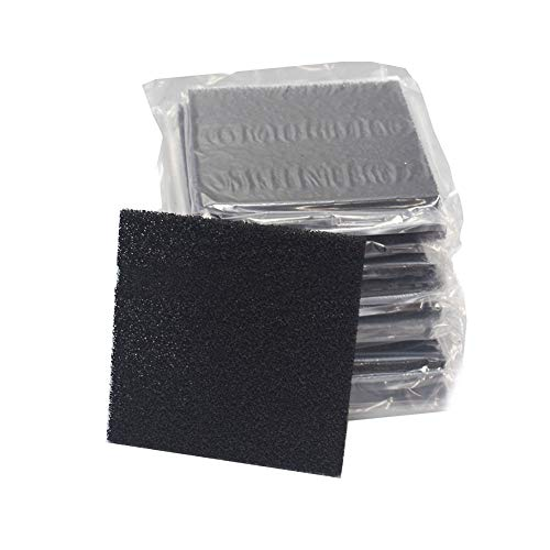 Fume Absorber Filter Replacement 10 Pack Solder Fume Filter Activated Carbon Filter Replacement for Smoke Fume Absorber Filter/Extract Fan 5 1/8' x 5 1/8' x 3/8'