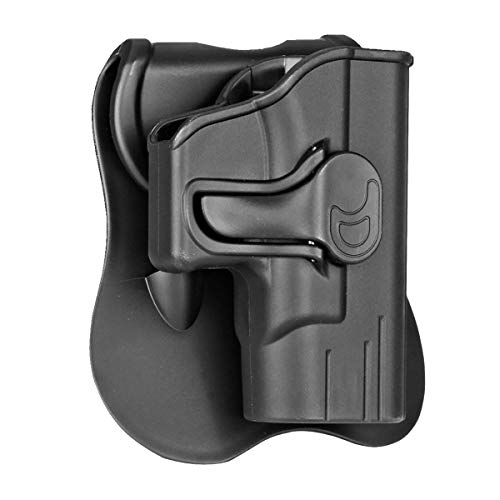 Springfield Armory XD-S 3.3' Holster OWB, Outside The Waistband Carry Paddle Holster Fit Springfield Armory XD-S 3.3' 9MM/40SW/45ACP, Polymer Holsters Right Handed-Black