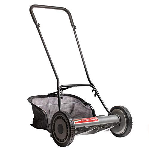 Great States 815-18 18-Inch 5-Blade Push Reel Lawn Mower & Grass Catcher Bundle