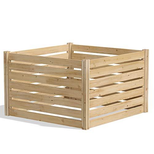 Greenes Fence RCCOMP48 Cedar Wood Composter, 48' L x 48' W x 31' H / 309.17 gallons