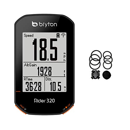 Bryton Rider 320E GPS Bike Cycle Computer. Simple but Powerful. Support 5 Satellite Systems. 35hrs Long Battery Life. Support ANT+/BLE Cadence, Speed, HRM sensors. Support ANT+ Power Meter.