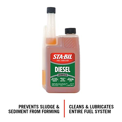 STA-BIL (22254) Diesel Fuel Stabilizer And Performance Improver - Keeps Diesel Fuel Fresh For Up To 12 Months - Lubricates And Cleans The Fuel System - Treats 320 Gallons, 32 fl. oz.