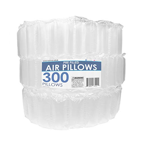 Innovative Haus 300 Count 4x8 Air Pillows for Filling Void in Package. Eco Friendly Cushioning Stuffer for Shipping and Packaging. Great Packing Supplies Alternative to Peanuts, Foam, and Paper.