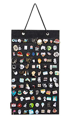 PACMAXI Brooches Pin Display Show Organizer Storage Hold 96 Pieces, Wall Pocket for Brooch. (Black)