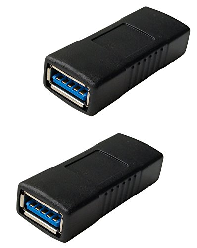 USB 3.0 Female to Female Extension Connector Adapter (2 Pack)