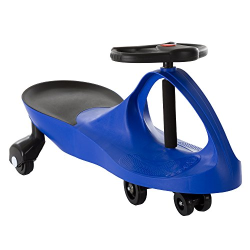 Ride On Car, No Batteries, Gears or Pedals, Uses Twist, Turn, Wiggle Movement to Steer Zigzag Car-Blue, for Toddlers, Kids, 2 Years Old and Up