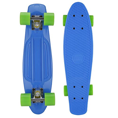 High Bounce Complete 22 Inch Skateboard for Kids of All Ages, Girls, Boys (Blue)