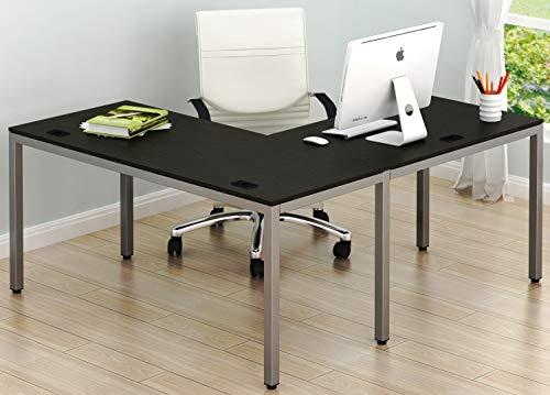 SHW Home Office 55'x60' Large L Shaped Corner Desk, Espresso