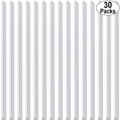 30 Pieces Binding Bars Slide Grip Binding Bars for Office School Report Cover, A4 Size, 40 Sheets Capacity, 12 Inch (White)