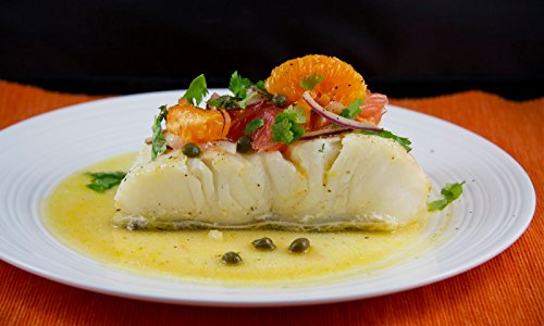 3 X 8 Oz. (1.5 Lb.) Chilean Sea Bass Fillets, Wild Caught, Individually Vacuum Packed, Skinless, Ready to Cook.