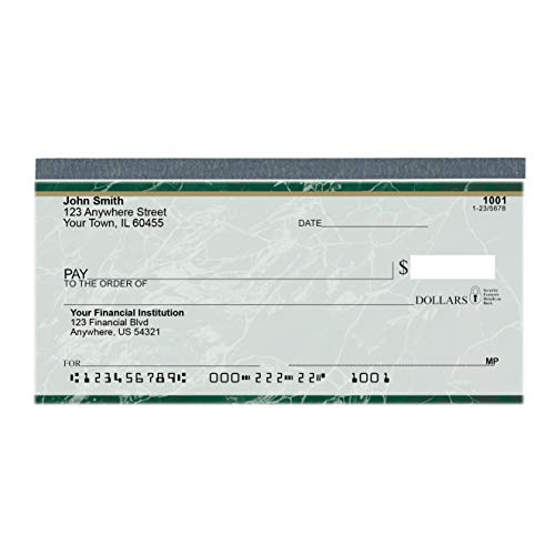 Value Price Green Marble Top Tear Personal Checks (1 Box of Singles, Qty. 125)