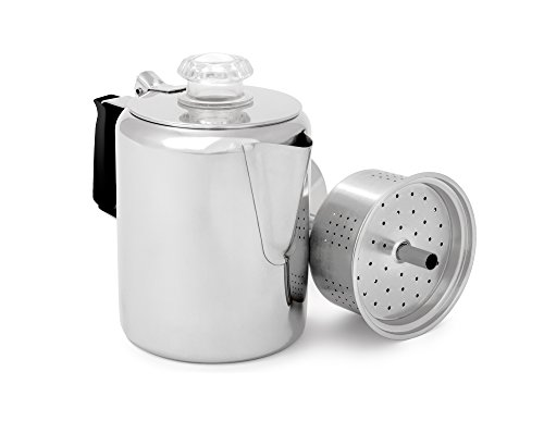 GSI Glacier Stainless Coffee Perk Cup, 12