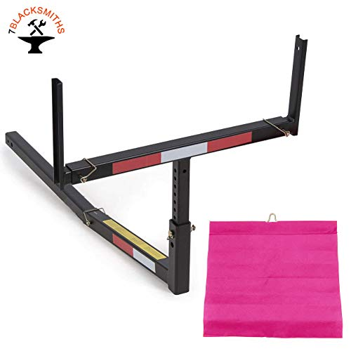 7BLACKSMITH Adjustable Steel Pick Up Truck Bed Hitch Extender Extension Rack for Boat Lumber Long Loads Canoe Ladder